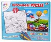 Laço Boyamalı Puzzle Erkek 6 Lı Boya Hediyeli Lcby002