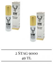 2 Şişe Stag 9000 Geyikli Geciktirici Sprey Altın Kapak
