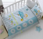 Kristal Bebek Uyku Seti Happy Baby Mavi