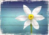 çiçek Ahşap Eskitme Tablo Ev,cafe,ofis Dekorasyonu