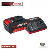 Einhell Power X Change Starter Kit 18 V Fast Changer +3,0 Ah Akü
