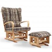 Tahterli Astoria Sallanır Emzirme Koltuğu Sandalyesi (Naturel) Kapuçino