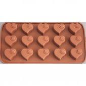 Js Silikon Çikolata Kalıbı Kalpli