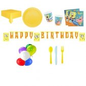 Sponge Bob Temalı Doğum Günü Parti Seti 16 Kişilik