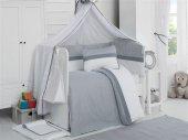 Kidboo Eva White 9 Parça Bebek Beşik Uyku Seti 60x120
