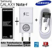 Samsung Galaxy Note 4 Orjinal Batarya + Hızlı Şarj Aleti Cihazı H