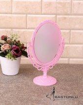 Dekoratif Oval Ayaklı 2 Boyutlu Masaüstü Orta Boy Ayna