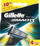 Gillette Mach3 Yedek 4'li Traş Bıçağı