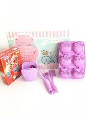 Muffin Yapım Sepeti Lila (Muffin Karışımı Hediyeli)