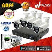 4 Kameralı Samsung Kasa Güvenlik Kamera Sistemi Fullset