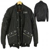 Bomber Ceket Black Fowardbomb Sticker Jacket