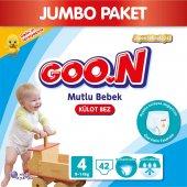 Goon Bebek Bezi Mutlu Bebek Külot 4 Beden 42 Li Jumbo Paket 9 14 Kg