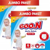 Goon Bebek Bezi Mutlu Bebek Külot 6 Beden 52 Lı Jumbo Paket 15 25 Kg