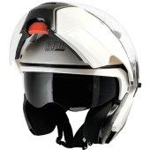 çene Açılır Motosiklet Kaskı Cgm 505a Singapore Beyaz Renk