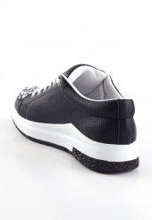 Rosa Siyah Boncuklu Bayan Spor Ayakkabı