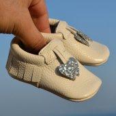 Kalpli Makosen Bebek Ayakkabı Bej Gümüş Cv 110