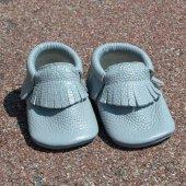 Klasik Makosen Bebek Ayakkabı Gri Cv 38