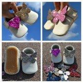 çıt Çıtlı Makosen Tabanlı Bebek Ayakkabı Bej Cv 278