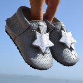 Yıldız Makosen Tabanlı Bebek Ayakkabı Gri Cv 386