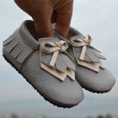 Navaho Makosen Tabanlı Bebek Ayakkabı Gri Cv 375