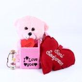 Sevgiliye Özel Pembe Ayıcıklı Romantik Aşk Kutusu
