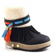 Jump 16746 İçi Termal Kürklü Işıklı Kız Çocuk Bot Ayakkabı