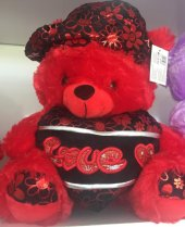şapkalı Kalpli Ayı 50 Cm