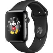 Apple Watch Series 2 38 Mm Uzay Siyahı Paslanmaz Çelik Kasa Ve Si