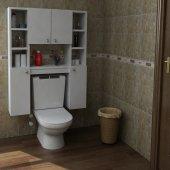 Arnetti Narin Banyo Klozet Dolabı Beyaz