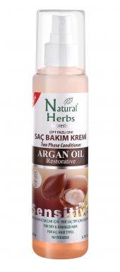 Natural Herbs Çift Fazlı Argan Yağlı Sıvı Saç Kremi