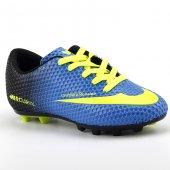 Walked 401 Mavi Sarı Krampon Çim Erkek Çocuk Futbol Spor Ayakkabı