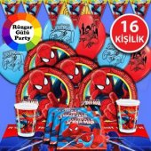 16 Ki İlik Spiderman R Mcek Adam Do Um G N Parti Seti