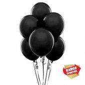 25 Adet Siyah Metalik Balon