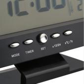 Alkış Sensörlü Led Dijital Alarmlı Masa Saati Termometre