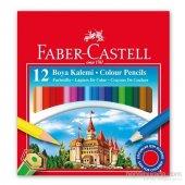 Faber Castell 12 Li Kuru Boya Kalemi Yarım Boy