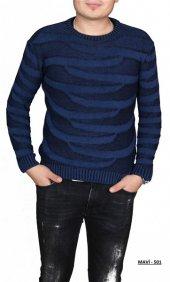 Bypass Sıfır Yaka Slim Fit Erkek Örgü Kazak 9 Model