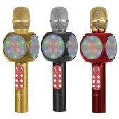 Wster Ws 1816 Led Işıklı Karaoke Mikrofon Dahili Bluetooth Hoparl