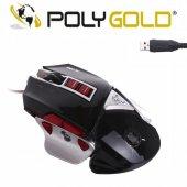 Polygold Pg 902 Usb Oyun Mouse 9d Macrolu Işıklı