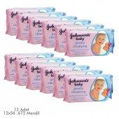 Johnsons Baby Parfümlü Islak Mendil 672 Yaprak 12&#039 Li Paket