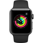 Apple Watch Seri 3 42mm Uzay Grisi Alüminyum Kasa Ve Siyah Spor K