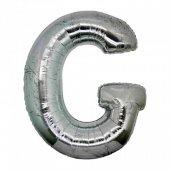 Folyo Balon Harf Gümüş G 16 İnc Helyum Balon Organizsyon Balo