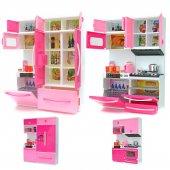 Oyuncak Buzdolaplı Mutfak Seti Işıklı Ve Sesli