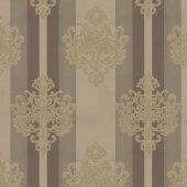 Truva 8601 3 Kahve Damask Desenli Duvar Kağıdı