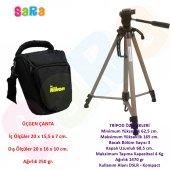Nikon D3000 Fotoğraf Makinesi İçin 165cm Tripod + ...