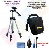 Nikon D3400 102cm Tripod + Üçgen Çanta + Temizlik Seti