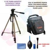 Canon Dslr 157cm Tripod + Üçgen Çanta + Temizlik S...