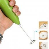 Mini Pilli Portatif Karıştırıcı El Mikseri Cappucino Maker Çırpma