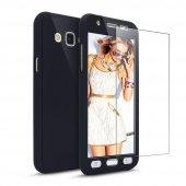 Samsung Galaxy J7 Pro 360 Tam Koruma Kırılmaz Camlı Kılıf