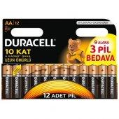 Duracell Aa Kalem Pil 12li (9+3)
