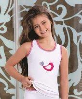Berrak Kuş Baskılı Kız Çocuk Atlet